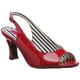 Rosso Verniciata 7,5 cm JENNA-02 grandi taglie sandali donna