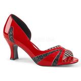 Rosso Verniciata 7,5 cm JENNA-03 grandi taglie scarpe décolleté