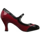 Rosso Verniciata 7,5 cm JENNA-06 grandi taglie scarpe décolleté