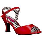 Rosso Verniciata 7,5 cm JENNA-09 grandi taglie sandali donna