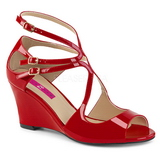 Rosso Verniciata 7,5 cm KIMBERLY-04 grandi taglie sandali donna
