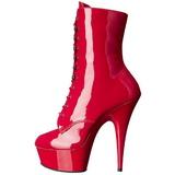 Rosso Verniciato 15,5 cm DELIGHT-1020 Stivaletti da donna plateau