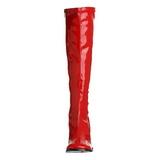 Rosso Verniciato 7,5 cm Funtasma GOGO-300 Stivali Donna