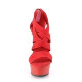 Rosso banda elasticizzata 15 cm DELIGHT-669 scarpe da donna pleaser