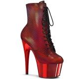 Rosso cromo 18 cm ADORE-1020HFN stivaletti exotic pole dance