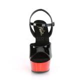 Rosso cromo plateau 15 cm DELIGHT-609 tacco alto pleaser