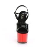 Rosso cromo plateau 18 cm SKY-309 tacco alto pleaser