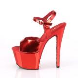 Rosso cromo plateau 18 cm SKY-309TTG tacco alto pleaser