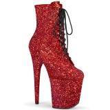 Rosso glitter 20 cm FLAMINGO-1020GWR stivaletti exotic pole dance