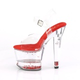 Rosso scintillare 18 cm LOVESICK-708GH scarpe con tacchi da pole dance
