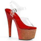 Rosso scintillare 18 cm Pleaser ADORE-708OMBRE scarpe con tacchi da pole dance