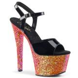 Rosso scintillare 18 cm Pleaser SKY-309LG scarpe con tacchi da pole dance
