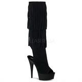 Scamosciata 15 cm DELIGHT-2019 stivali con frange donna tacco altissime