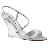 Silver 10,5 cm LOVELY-417 Women Wedge Sandals