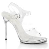 Silver 11,5 cm CHIC-08 High Heeled Stiletto Sandals