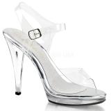 Silver 11,5 cm FLAIR-408 transvestite shoes
