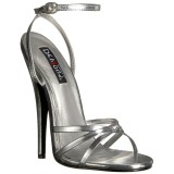 Silver 15 cm Devious DOMINA-108 high heeled sandals
