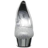 Silver Glitter 15 cm Pleaser DELIGHT-685G Platform Pumps