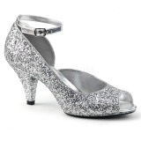 Silver Glitter 7,5 cm BELLE-381G High Heel Pumps for Men