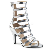 Silver Leatherette 10 cm DREAM-438 big size ankle boots womens
