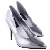 Silver Matte 10 cm VANITY-420 pointed toe pumps high heels