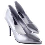 Silver Matte 10 cm VANITY-420 pointed toe pumps high heels