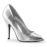 Silver Matte 13 cm SEDUCE-420 pointed toe pumps high heels