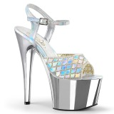 Silver glitter 18 cm Pleaser ADORE-709MMRS Pole dancing sandals