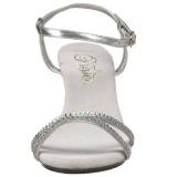 Silver rhinestones 8 cm BELLE-316 transvestite shoes