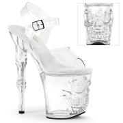 Skull platform 20 cm RAPTURE-808 pleaser high heels transparent
