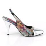 Snake pattern 10 cm DREAM-405 slingback pumps transvestite shoes