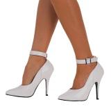 Tacchi alti bianchi 13 cm SEDUCE-431 tacchi decoltè cinturino alla caviglia