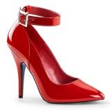 Tacchi alti rosso 13 cm SEDUCE-431 tacchi decoltè cinturino alla caviglia