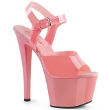 Tacco alto rosa 18 cm SKY-308N JELLY-LIKE materiale elasticizzato tacco alto plateau