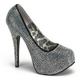 Titanium Rhinestone 14,5 cm TEEZE-06R Platform Pumps Women Shoes