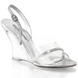 Transparent 10,5 cm LOVELY-456 Women Wedge Sandals