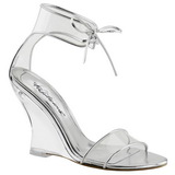 Transparent 10,5 cm LOVELY-460 Women Wedge Sandals