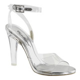 Transparent 11,5 cm CLEARLY-406 High Heeled Evening Sandals