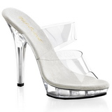 Transparent 13 cm Fabulicious LIP-102 Platform High Heel Mules