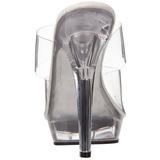 Transparent 13 cm Fabulicious LIP-102 Platform High Heel Mules