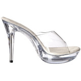 Transparent 14 cm COCKTAIL-501 Platform Mules Shoes