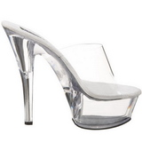 Transparent 15 cm PRINCESS-201 Platform Mules Shoes