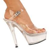 Transparent 15 cm Pleaser KISS-208 Platform High Heels Shoes