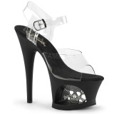 Transparent 18 cm Pleaser MOON-708SK Platform High Heels Shoes