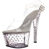 Transparent 18 cm Pleaser STARDUST-708 High Heels Platform