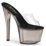 Transparent 18 cm SKY-301T Exotic stripper high heel mules