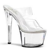 Transparent 18 cm SKY-302 Plateau Women Mules Shoes