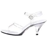 Transparent 8 cm BELLE-308 High Heels for Men
