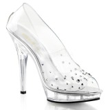 Transparent Crystal 13 cm LIP-182 High Heeled Evening Pumps Shoes