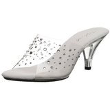 Transparent Strass 8 cm BELLE-301RS High Women Mules Shoes for Men